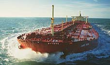 The largest vessel is the tanker